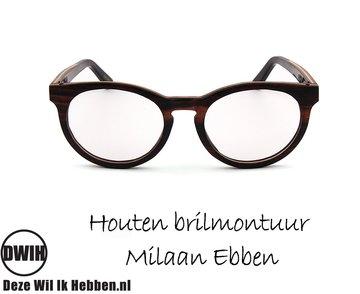 Houten brilmontuur - Milaan Ebben
