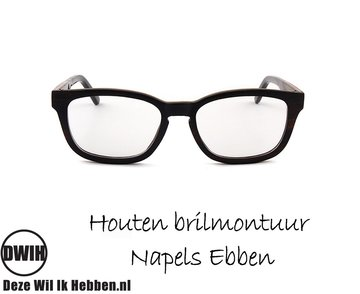 Houten brilmontuur - Napels Ebben