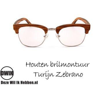 Houten brilmontuur - Turijn Zebrano