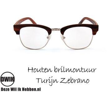 Houten brilmontuur - Turijn Ebben