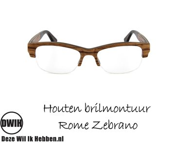 Houten brilmontuur - Rome Zebrano