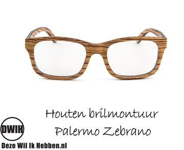 Houten brilmontuur - Palermo Zebrano