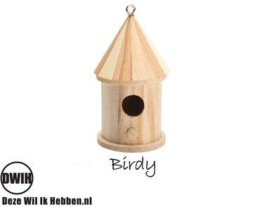 houten vogelhuisje Birdy