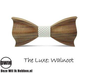 Houten vlinderdas  The luxe Walnoot