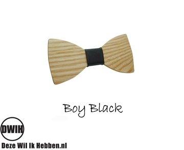 Houten-strik:-Boy-Black-Kindermaat-