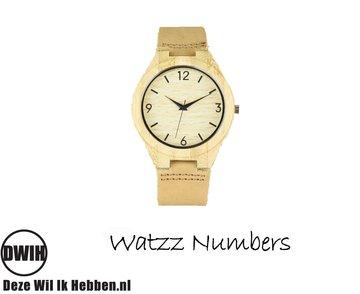 Houten horloge: Numbers Big (WATZZ 12)