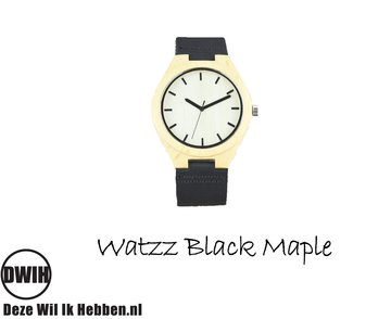 Houten horloge:  Black Maple (WATZZ 13)