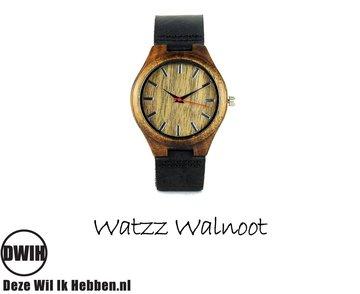 Houten horloge:  Walnoot (WATZZ 14)