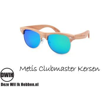 Houten zonnebril: Metis Clubmaster Kersen