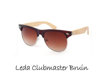 Houten zonnebril: Leda Clubmaster Bruin