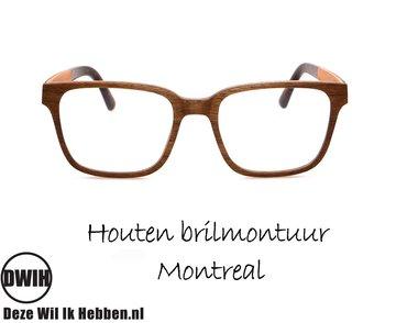 Houten brilmontuur - Montreal
