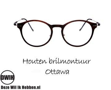 Houten brilmontuur - Ottawa