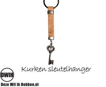 Kurken sleutelhanger met sleutel