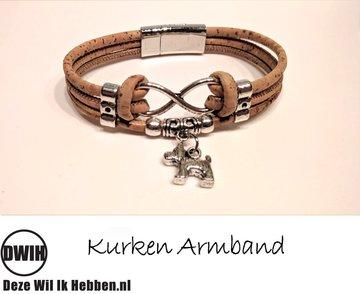 Kurken armband 26 naturel / naturel,  hond / terrier