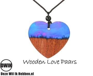 Wooden Love Paars