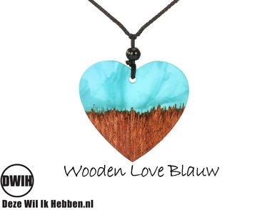 Wooden Love Blauw