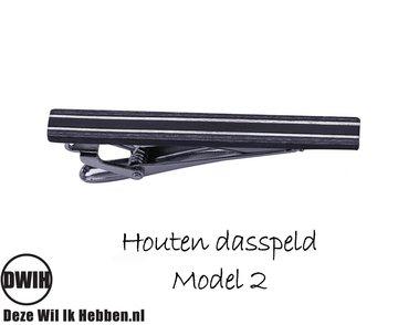 Houten Dasspeld model 2