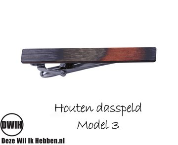 Houten Dasspeld model 3