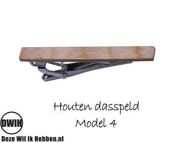 Houten Dasspeld model 4