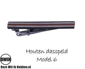 Houten Dasspeld model 6