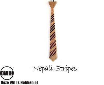 Houten stropdas: Nepali Stripes