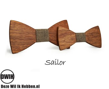 Houten strik Vader & Zoon: Sailor
