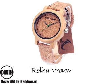 Houten horloge: Rolha Vrouw