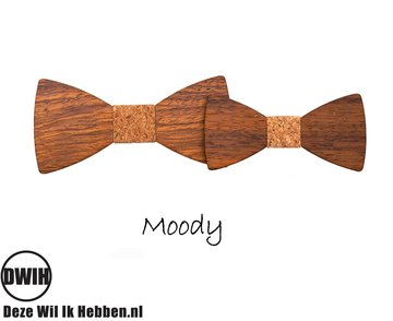 Houten strik Vader & Zoon: Moody