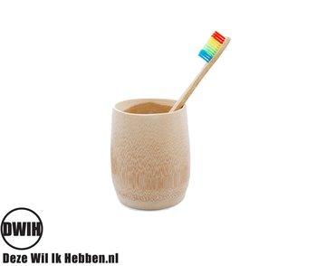 Bamboe Rainbow Tandenborstel set van 2 stuks | Zacht/medium voor gevoelige tandvlees | Biologisch afbreekbaar