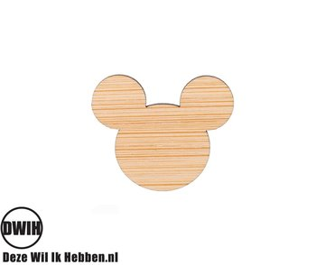 LaserWood Pin / Broche Micky Mouse