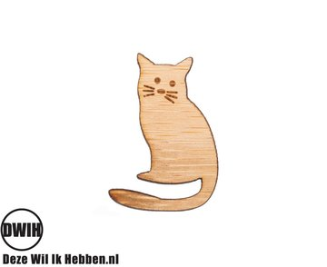 LaserWood Pin / Broche Poes