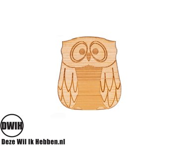 LaserWood Pin / Broche Uil