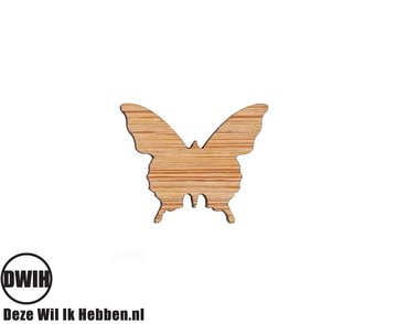 LaserWood Pin / Broche Vlinder