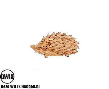 LaserWood Pin / Broche Egel