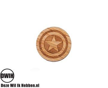 LaserWood Pin / Broche Captain America