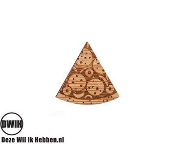 LaserWood Pin / Broche Pizza