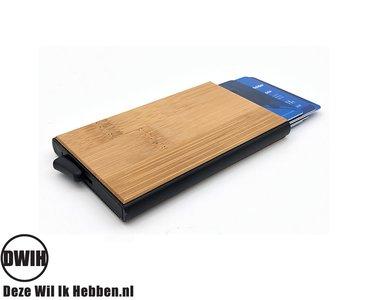 Bamboe RFID credit cardhouder