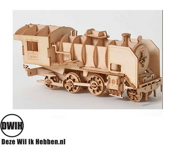 Houten 3D  puzzel Trein- bouwpakket