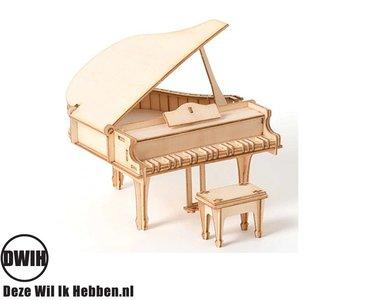 Houten 3D puzzel Piano bouwpakket