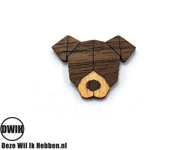 Houten Broche / Pin Hond
