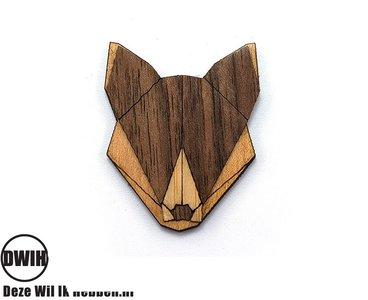 Houten Broche / Pin Wolf