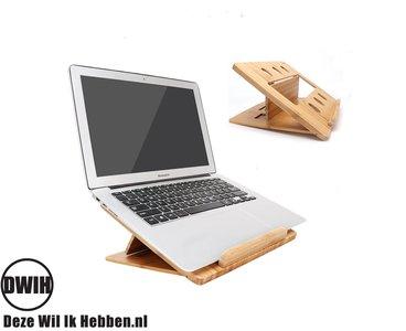 Bamboe opvouwbaar en verstelbaar laptopstandaard