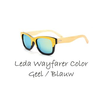 Leda Wayfarer Color Leda Wayfarer Color Geel / Blauw