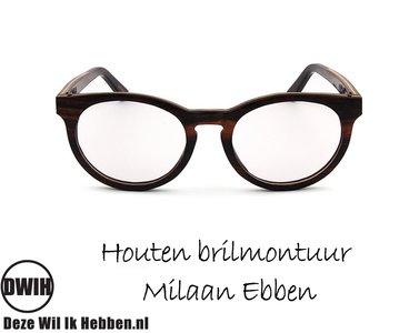 DWIH - Houten brilmontuur - Milaan - Ebben
