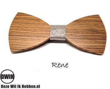 Houten strik: Rene