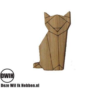LaserWood Broche/Pin kat