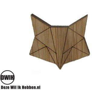 LaserWood Broche/Pin Vos