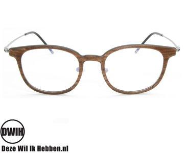 DWIH - Houten brilmontuur - Houston - Walnoot - Ebben