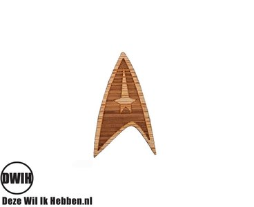 LaserWood Pin / Broche Star Trek