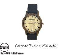 Houten horloge: Carme Black Sandal